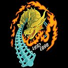 UP IN FLAMES Drachen Fire Roller Coaster - Busch Gardens Williamsburg - Theme Park Tribute by jfells