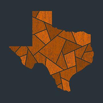 Texas Mosaic - Orange by DesignSyndicate