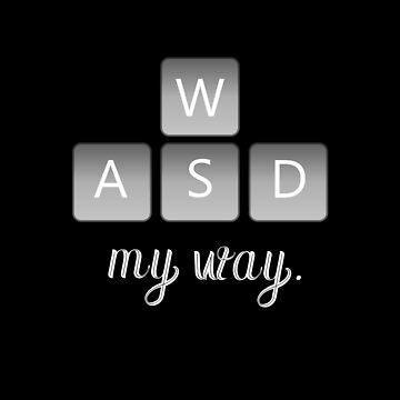 WASD keyboard gamer nerd esport by CORZ
