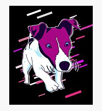 Dog funny Eighties Retro Violet and Purple Photographic Print