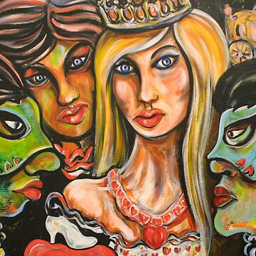 Cinderella with Green Mask of Envy and Blue Mask of Jealousy by AntheaSlade
