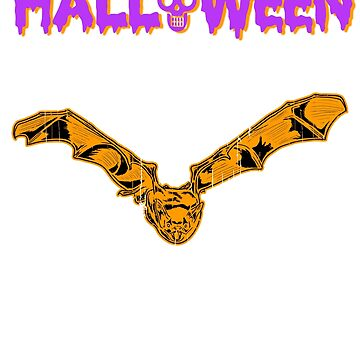 Halloween Bat Happy Holiday T shirt by we1000