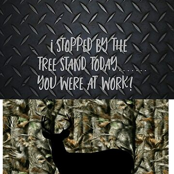 Funny Deer Hunting Camo Diamond Plate by customgifts