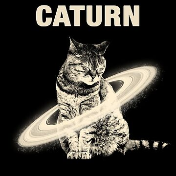 Cat Moon Space Galaxy Cat Caturn Tee - Funny Kittens Lover Gifts by proeinstein