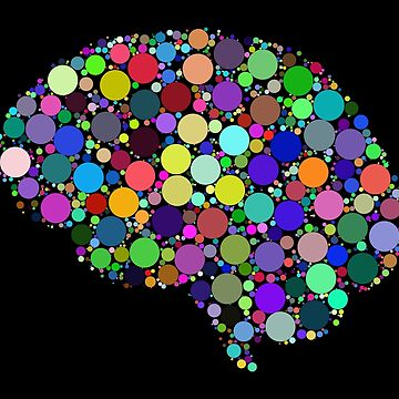 Brain Dots on Black by ColorfulCortex