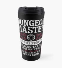 Dungeon Master, The Weaver of Lore & Fate - Dungeons & Dragons (White Text) Travel Mug