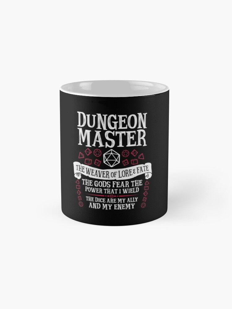 Alternate view of Dungeon Master, The Weaver of Lore & Fate - Dungeons & Dragons (White Text) Mugs