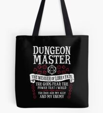 Bolsa de tela Dungeon Master, The Weaver of Lore & Fate - Dungeons & Dragons (Texto blanco)