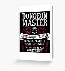 Tarjeta de felicitación Dungeon Master, The Weaver of Lore & Fate - Dungeons & Dragons (Texto blanco)