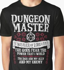 Dungeon Master, The Weaver of Lore & Fate - Dungeons & Dragons (White Text) Graphic T-Shirt