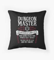 Dungeon Master, Der Weber der Erkenntnis & des Schicksals - Dungeons & Dragons (White Text) Bodenkissen