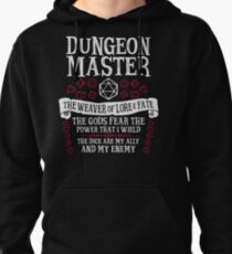Dungeon Master, The Weaver of Lore & Fate - Dungeons & Dragons (White Text) Pullover Hoodie