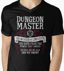 Dungeon Master, The Weaver of Lore & Fate - Dungeons & Dragons (White Text) Men's V-Neck T-Shirt