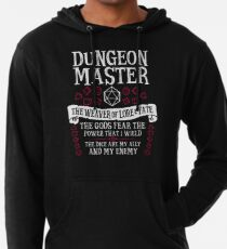 Sudadera con capucha ligera Dungeon Master, The Weaver of Lore & Fate - Dungeons & Dragons (Texto blanco)