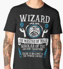 WIZARD, The Master of Magic - Dungeons & Dragons (White Text) Men's Premium T-Shirt