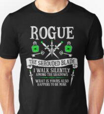 Camiseta ajustada ROGUE, LA HOJA ESTRECHA - Dungeons & Dragons (Texto blanco)