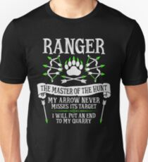 RANGER, The Master of the Hunt - Dungeons & Dragons (White Text) Unisex T-Shirt