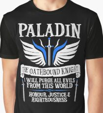 PALADIN, THE OATHBOUND KNIGHT- Dungeons & Dragons (White) Graphic T-Shirt