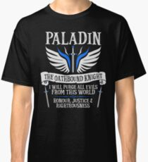 PALADIN, THE OATHBOUND KNIGHT- Dungeons & Dragons (White) Classic T-Shirt