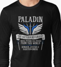 PALADIN, THE OATHBOUND KNIGHT- Dungeons & Dragons (White) Long Sleeve T-Shirt