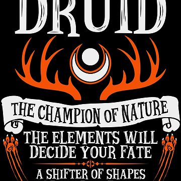DRUID, EL CAMPEÓN DE LA NATURALEZA - Dungeons & Dragons (Black) de enduratrum
