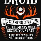 DRUID, THE CHAMPION OF NATURE - Dungeons & Dragons (Black) by enduratrum