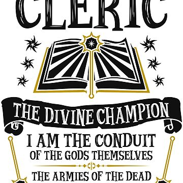 CLERIC, THE DIVINE CHAMPION - Dungeons & Dragons (Black) by enduratrum