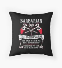BARBARIAN, THE RAGING STORM - Dungeons & Dragons (White) Floor Pillow