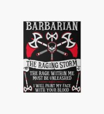 BARBARIAN, THE RAGING STORM - Dungeons & Dragons (White) Art Board