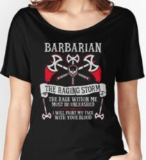 BARBARIAN, THE RAGING STORM - Dungeons & Dragons (White) Women's Relaxed Fit T-Shirt