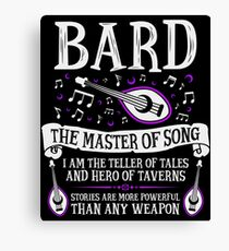 BARD, THE MASTER OF SONG - Dungeons & Dragons (White) Canvas Print