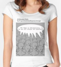 Im surrounded by NPCs  Women's Fitted Scoop T-Shirt