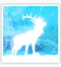 Blue stag Sticker
