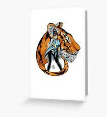 Tekken 7 - Kazumi Mishima & Tiger Greeting Card