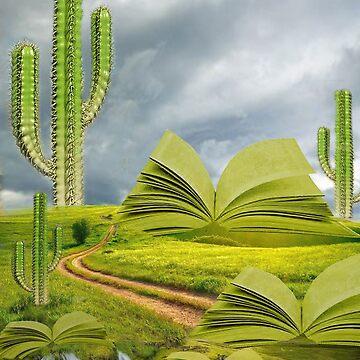 Surrealistic reader cactus  by Carmenmaura97