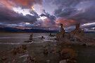 Mono Lake Sunset on a Windy Day by photosbyflood