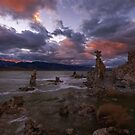 Mono Lake Sunset on a Windy Day by photosbyflood