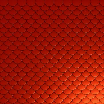 Red Mermaid Scales by AaronKinzer