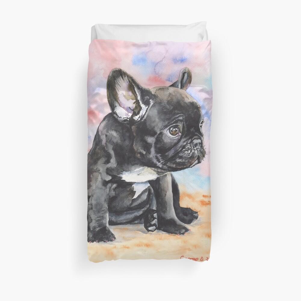Französischer Bulldoggen-Welpe Bettbezug