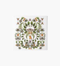 Spring Reflection - Floral/Botanical Pattern w/ Birds, Moths, Dragonflies & Flowers Art Board