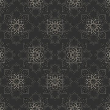 Gray and Taupe Floral Pattern by BuzzEdition