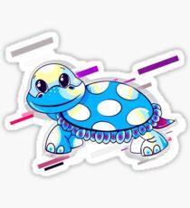 Amphibian animal Eighties Retro Violet and Purple Sticker