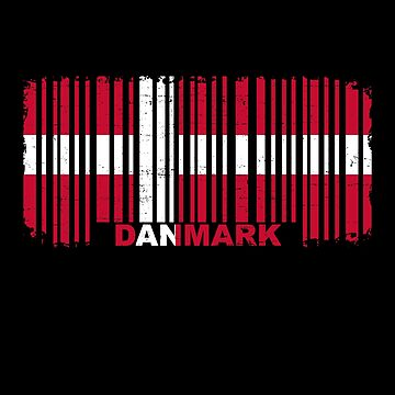 Danmark barcode flag by S-p-a-c-e