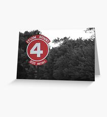 Tattenham Corner 4th furlong Greeting Card