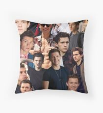 Tom Holland Collage Throw Pillow