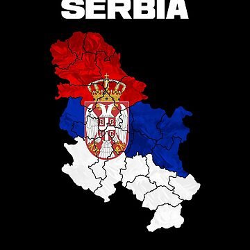 Serbia Serbian flag and map by IchliebeT-Shirt