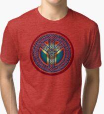 Celtic Knot of Peace - metallic version Tri-blend T-Shirt