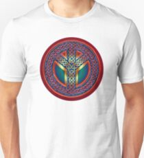 Celtic Knot of Peace - metallic version Unisex T-Shirt