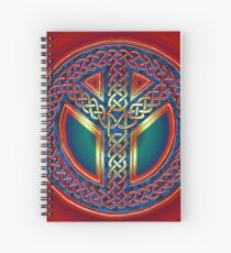 Celtic Knot of Peace - metallic version Spiral Notebook