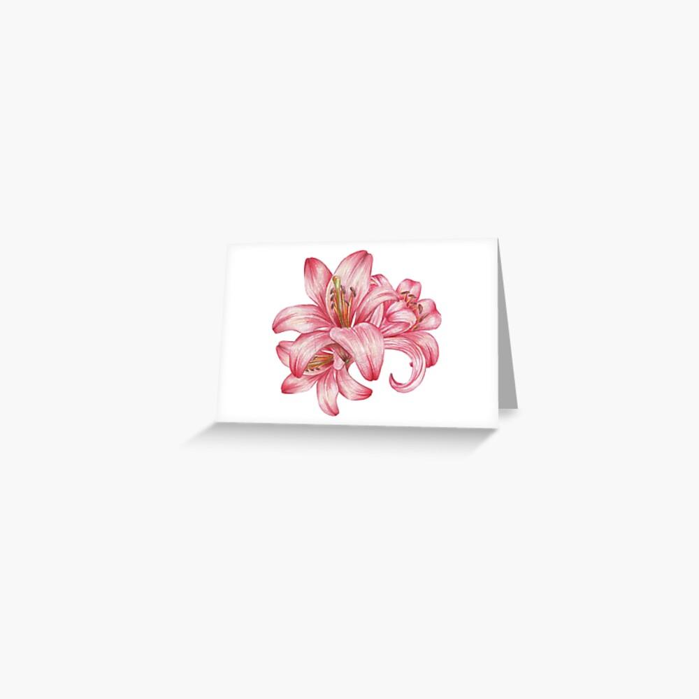 Lilie flowers_3 Grußkarte
